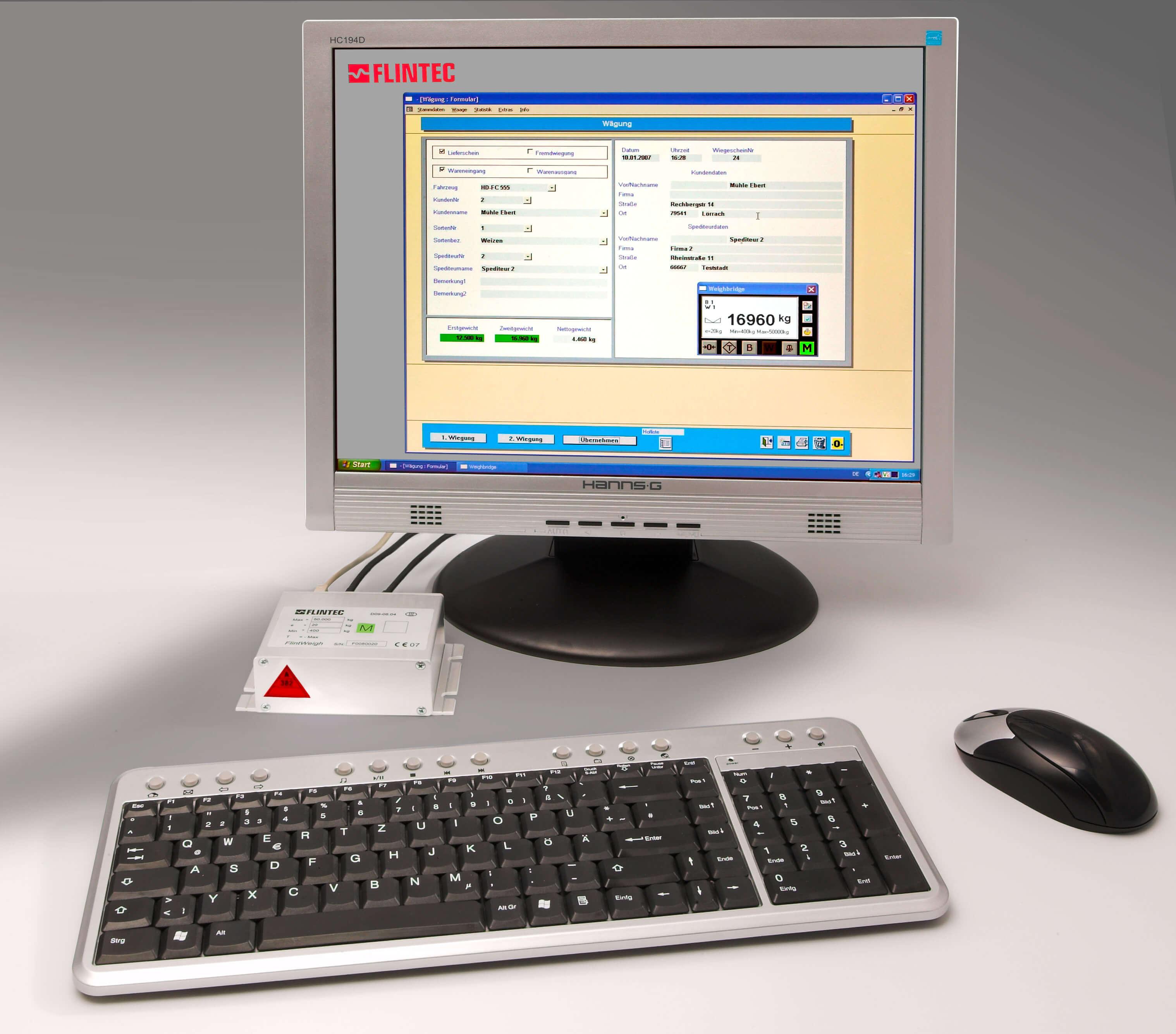 Flintweigh 2 PC weegsysteem Image