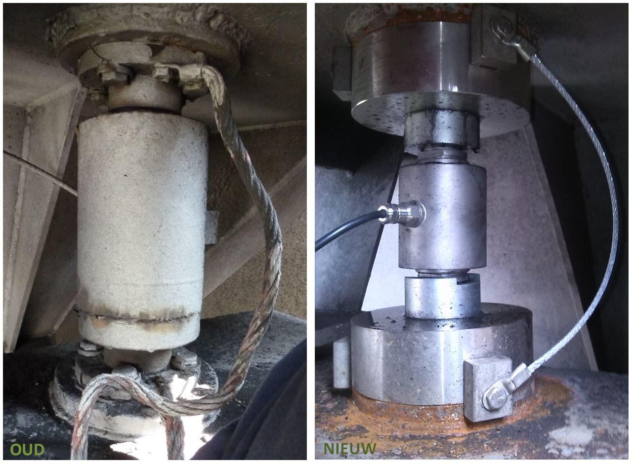 Nieuwe load cell passend maken voor oude (niet meer leverbare krachtopnemer) Image